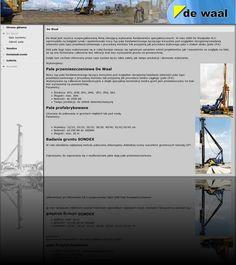 Strona internetowa budowlanej firmy DeWaal to strona naszych przyjaciół w biznesie i prywatnie ;-)