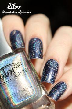 Stamping holo avec Halo Hues de Color club sur le joli Tristam - A England!