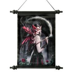 Spellbound Dragon Fairy Canvas Wall Scroll Tapestry