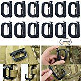 Weareal 12 Pack Molle Clips D-Ring Grimlock Clip Molle Accessores for Molle Pouch Webbing Backpack Straps (Black) Hiking Gear, Camping Gear, Molle Pouches, New Clip, Backpack Straps, Tactical Gear, Gears, Backpacks, Ring