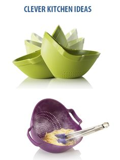 We love anything new, clever or functional, the Zeal Tilt and Serve Colander combines all three! Now it's easy to rinse and serve in one quick motion with no mess and no fuss.Not only will this item look great on the table at meal time, with it's fast draining function, it's sturdy easy grab handles and it's simple to use tilt and serve ability, you'll save time when dishing up and washing up! Available in Red, Green and Purple.