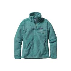 Women's Patagonia Re-Tool Snap-T Pullover ($119) ❤ liked on Polyvore featuring tops, round collar shirt, blue shirt, blue collar shirt, patagonia pullover and collared shirt