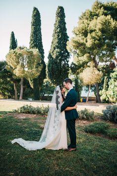 A Beautiful Destination Wedding in Croatia Wedding Couples, Wedding Day, Wedding Styles, Wedding Photos, Photography Ideas, Wedding Photography, Cathedral Wedding Veils, Bride Veil, Gowns