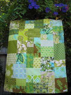 modern greens by sewfunbymonique, via Flickr
