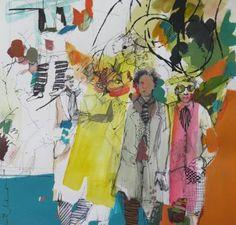"""Saatchi Art Artist Golnaz AFRAZ; Painting, """"D'un autre monde.."""" #art"""