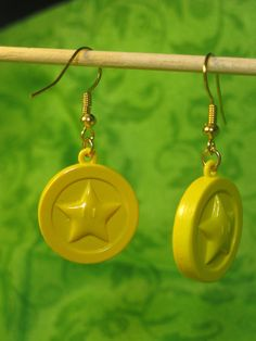 Super Mario Earrings  Coin by Jirges on Etsy, $5.00