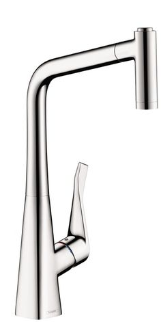 "THIS ONE!  Metris 2-Spray HighArc Kitchen Faucet, Pull-Out Product characteristics  Swivel range 150° Laminar and needle spray Locking spray diverter (reverts to default spray mode upon valve closing) MagFit magnetic sprayhead docking Flow: 1.75 GPM Ceramic cartridge ⅜"" compression $608"
