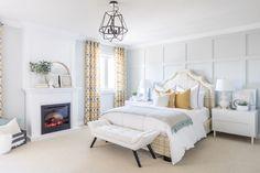 Jo Alcorn's Spring-Inspired Bedroom Makeover Modern Master Bedroom, Master Bedroom Design, Cozy Bedroom, Bedroom Decor, Bedroom Ideas, Cheap Bedroom Makeover, Bedroom Makeover Before And After, American Style House, American Houses
