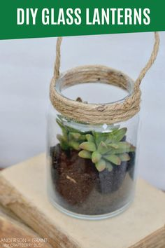 Bring your plants inside for fall and give your home a fresh, natural element with indoor potted plants and succulents. Display your favorite fall plants in just about anything, including these DIY Glass Lanterns made from upcycled glass jars. Don't let incontinence hold you back from your favorite DIY and gardening activities. Be sure to protect yourself with Depend® FIT-FLEX® Underwear—you'll stay drier and worry-free as you work!