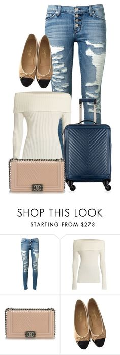 """""""NY 🛩 PARIS"""" by heytherebruno ❤ liked on Polyvore featuring Hudson, The Row and Chanel"""