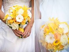 Image result for yellow gray and white wedding flowers