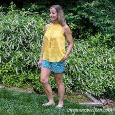 Stitchfix Reviews, Stylist Pick, Pretty Green, Lorraine, Printed Shorts, My Favorite Color, My Wardrobe, Stitch Fix, June