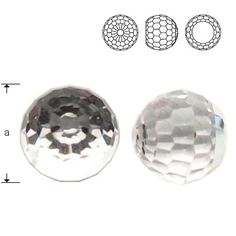 4869 Ball 6mm Crystal CAVZ  Dimensions: 6,0 mm Colour: Crystal CAVZ 1 package = 1 piece