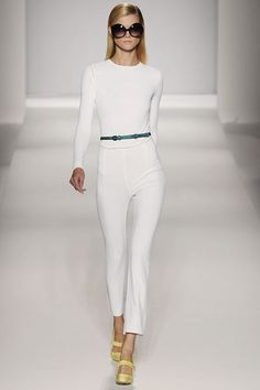 Max Mara white top and white pants