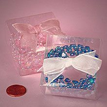 Bow Top Clear Favor Boxes