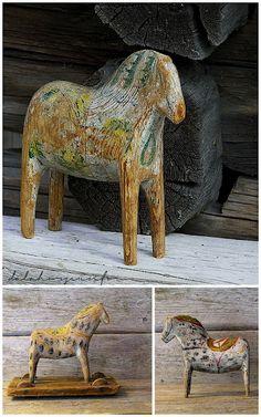 Beautiful, old Dala horses