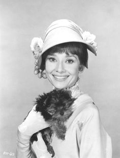 Audrey in a promotional shot for 'My Fair Lady' (1964).
