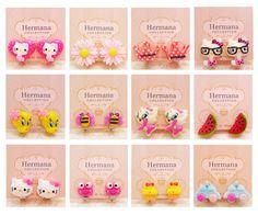 12 Pairs Lot of Kawaii Kids Girls Clip-On Earrings Cute for Children Women Gift #ClipOnEarrings