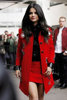 Selena Gomez in a MARC JACOBS outfit.