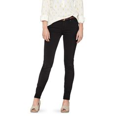 I love these! Women's Essential Stretch Skinny Jean Black from Target