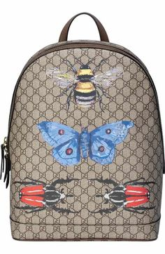 Trendy Women s Bags   insect print gg supreme canvas backpack by Gucci. A  master alchemist e3b0c8022999f