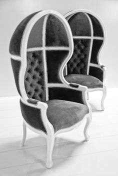 Balloon Chair in Charcoal Velvet This is a super fun chair and I wanted to turn you onto this store to maybe add a few pieces in!
