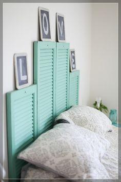 DIY-Creative Headboard- guest room