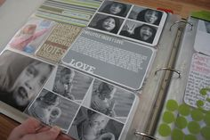 Four photos in one. I also like the idea of using each pocket as a scrapbook piece...never thought of that before.