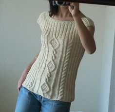 Ravelry: 02 A-line Cabled Top pattern by Debbie Bliss