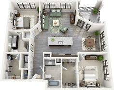 ★ Fairview $2155 - $2348 Bedrooms: 2 Bathrooms: 2 1255 - 1359 sq. ft