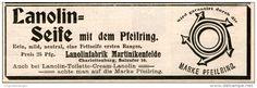 Original-Werbung/Inserat/ Anzeige 1907 - LANOLIN-SEIFE MIT DEM PFEILRING - ca. 130 x 45 mm