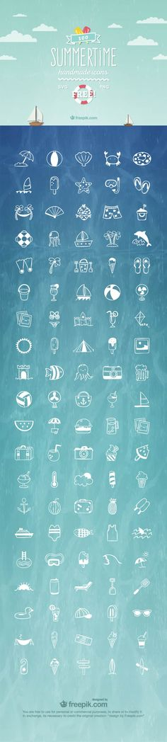 Free Summertime Icon set