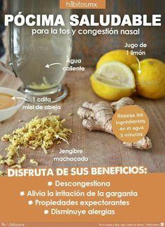 Pócima saludable para la tos y congestión nasal
