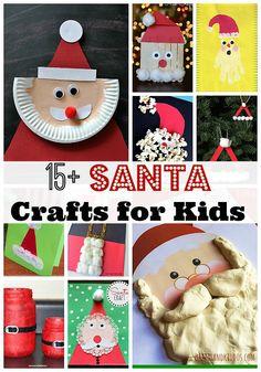 15 + Santa Crafts for Kids