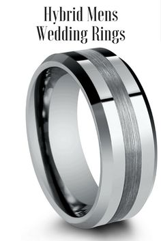 Yellow Gold Plated Brushed Tungsten Wedding Band Pinterest Interior Bands And Weddings