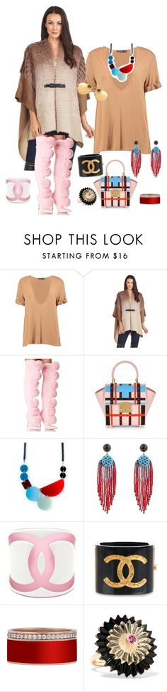 """Over sized T-shirt fade"" by jeniferkcarsrud ❤ liked on Polyvore featuring Boohoo, FRR, Privileged, MayraFedane, Etro, Chanel, Alice Cicolini and Linda Farrow"