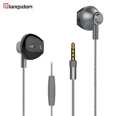 Langsdom M420 Stereo Bass Earphones In-Ear Headset with Wire Control MIC 3.5MM Hands-free Earpieces for Apple yotaphone 2 xiaomi