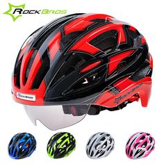 ROCKBROS Bicycle Cycling Helmets With Glasses 3 Lens Ultralight Men Women Full Protcect MTB Road Bike Cycling Helmet H6009