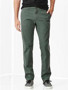 GAP - Lived-in slim khaki - Pants - Moss - ($42.00)