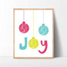 modern christmas sign bright pink non traditional by CafeChaCha