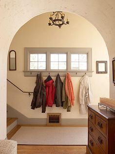 Entryway with hooks