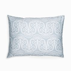Lennol | MILJA Ornamental pillowcase, light blue (50 x 60 cm, 20 x 24 inch) / (60 x 80 cm, 24 x 32 inch)
