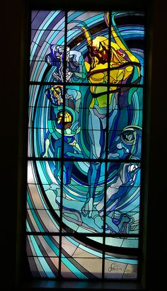 Stanislaw Wyspianski - Apollo Stained Glass and planets Copernicus Making Stained Glass, Stained Glass Windows, Stained Glass Designs, Window Design, Decorating Blogs, Mosaic Glass, Apollo, Art Nouveau, Tiffany
