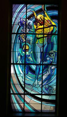Stanislaw Wyspianski - Apollo Stained Glass and planets Copernicus