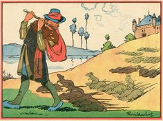 Ray Lambert illustration of the Pied Piper of Hameln