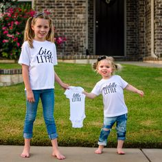 Updates from MadieAndQuinn on Etsy Looking for the perfect pregnancy announcement for baby ❤️ Check out Madie And Quinn! Third Child Announcement, Third Baby Announcements, Creative Pregnancy Announcement, Baby Announcement Pictures, Third Pregnancy, Pregnancy Photos, Baby Photos, Baby Number 3, Sibling Shirts