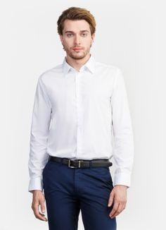 Базовая однотонная рубашка за 1199р.- от OSTIN