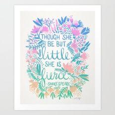Little & Fierce – Lavender Mint Ombré Art Print