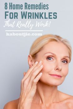8 Home Remedies For Wrinkles That Really Work There are many anti-wrinkle creams and treatments on the market, however there is actually a lot you can do for a fraction of the price in the comfort of your own home. Here are some very effective home rem Face Wrinkles, Prevent Wrinkles, Anti Wrinkle, Wrinkle Creams, Face Creams, Home Remedies For Wrinkles, Looks Party, Wrinkle Remedies, Health