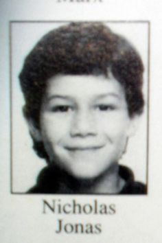 Celebrity yearbook photos to prepare you for picture day—Nick Jonas